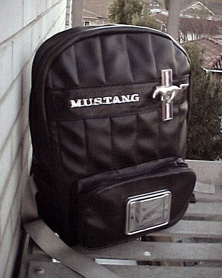 Mustang Backpack Sporty Perforated Leather With Chrome Etsy Mustang Built Ford Tough 1960 Mustang