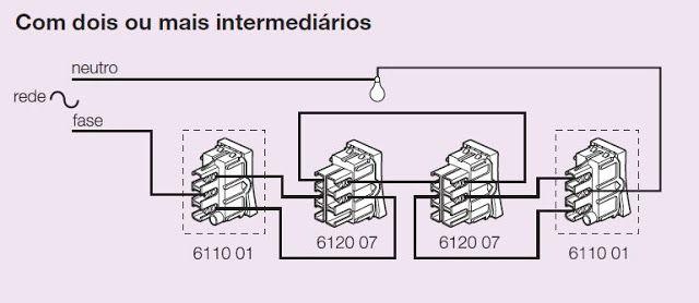 central el u00c9trica  esquema de liga u00c7 u00c3o interruptor paralelo  3w
