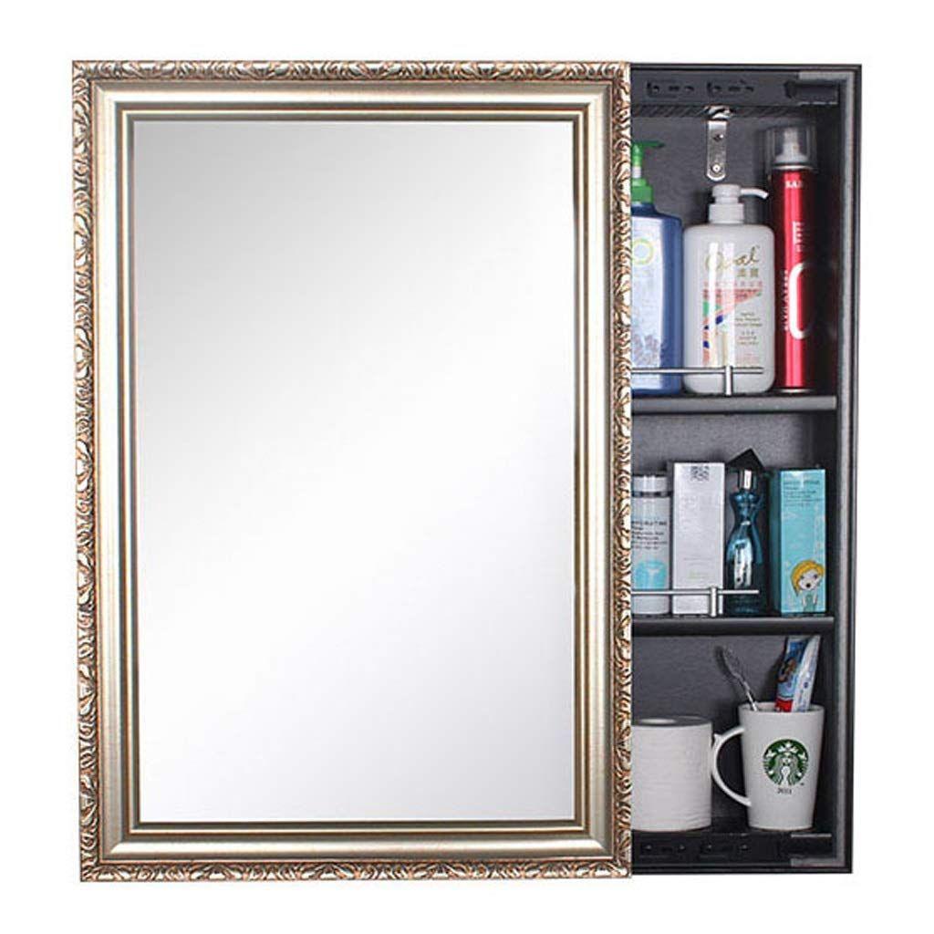 Makeup Mirror Wallmounted Toilet Storage Mirror Box A Bathroom Cabinet Mirror Locker Color 2 Size 6080c Toilet Storage Storage Mirror Wall Mounted Toilet