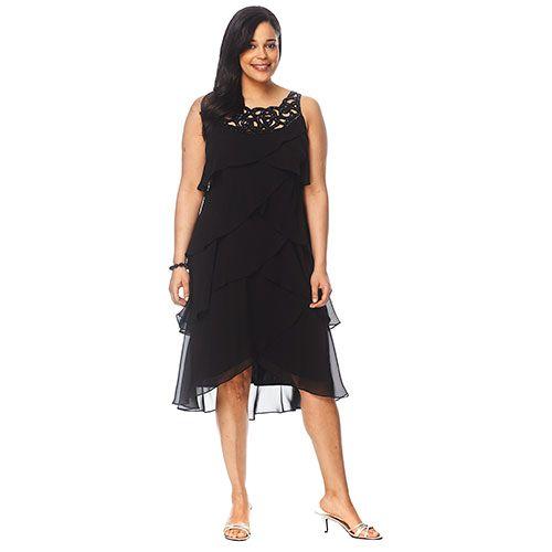 3f1835e9778 Womens S. L. Fashions Decorative Neck Tier Dress