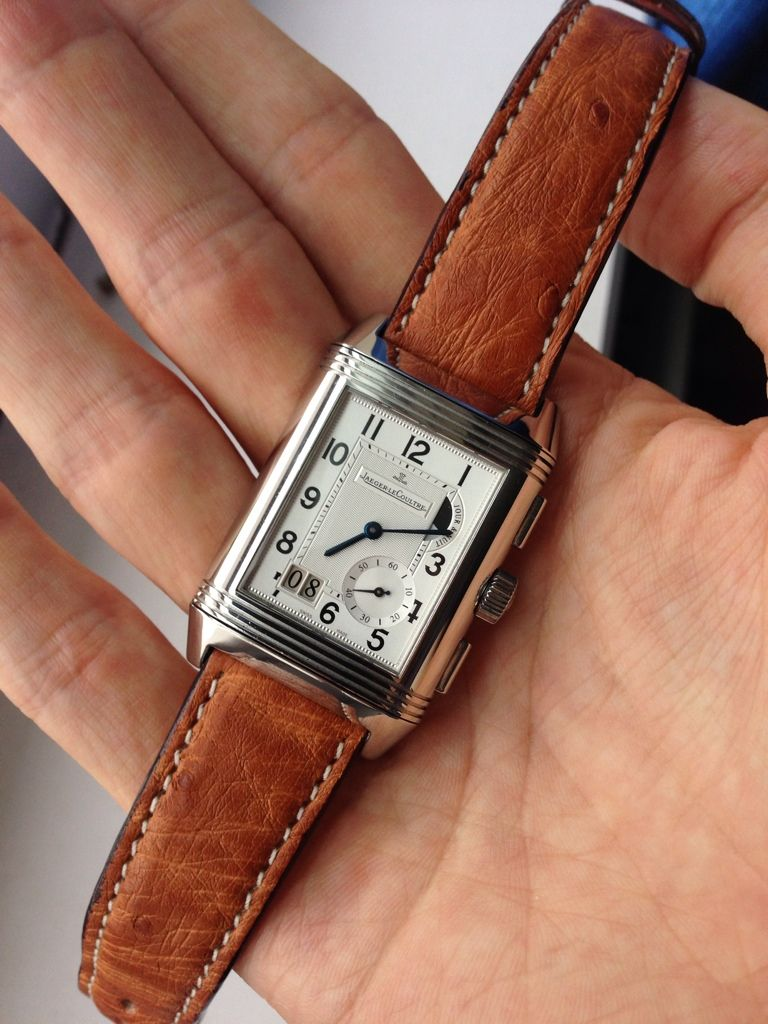 0c11fc125aabb New Ostrich strap for my JLC Reverso Grande GMT