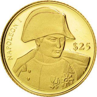 Liberia 25 Dollars Gold Coin 2000 Napoleon Bonaparte