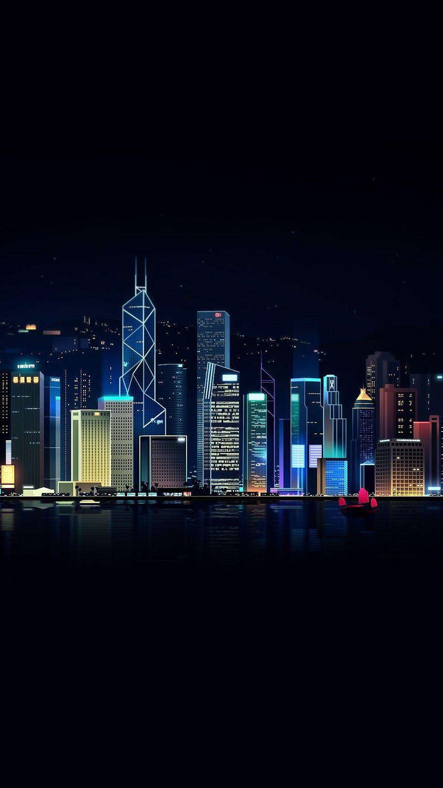 City Light Amoled City Lights Wallpaper City Wallpaper