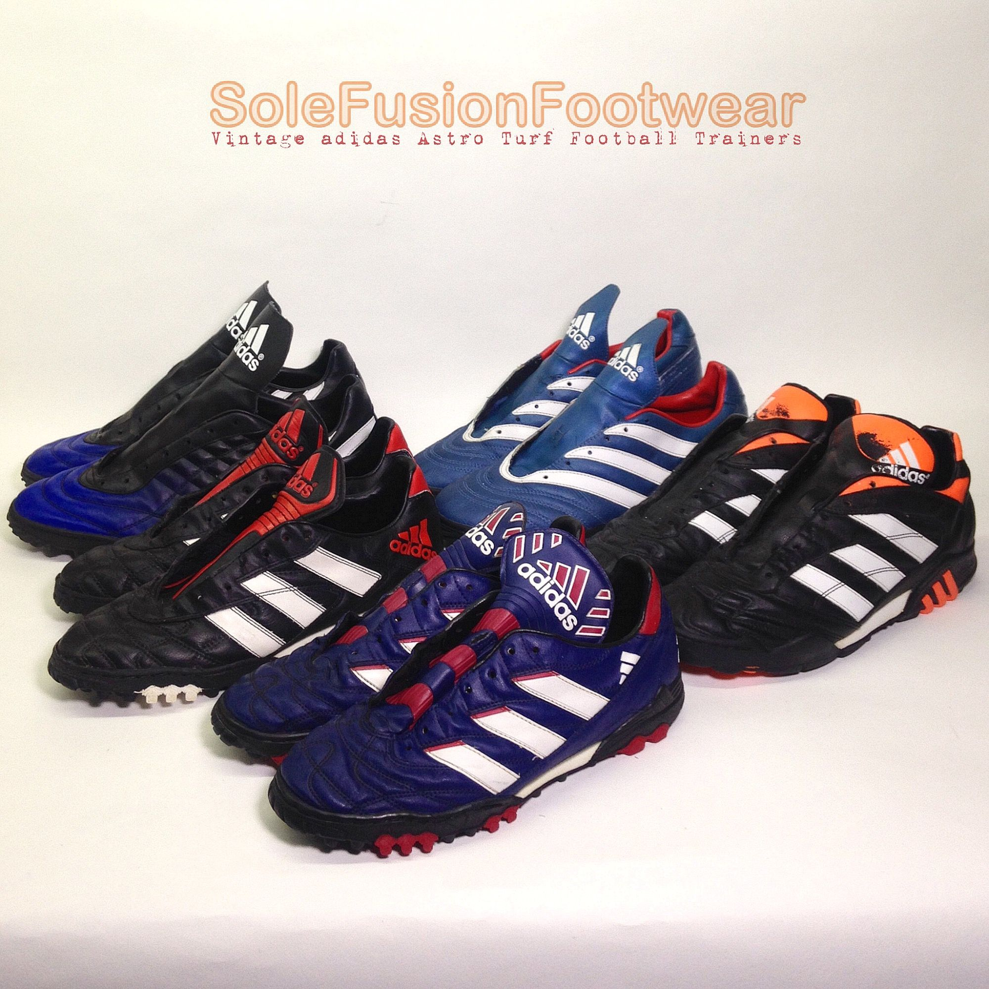 Vintage Adidas Trx Turf Football Shoes Cleaned Drying Out And