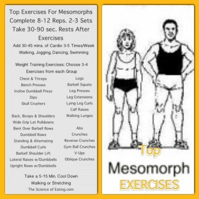 workout mesomorph body type  body type workout mesomorph