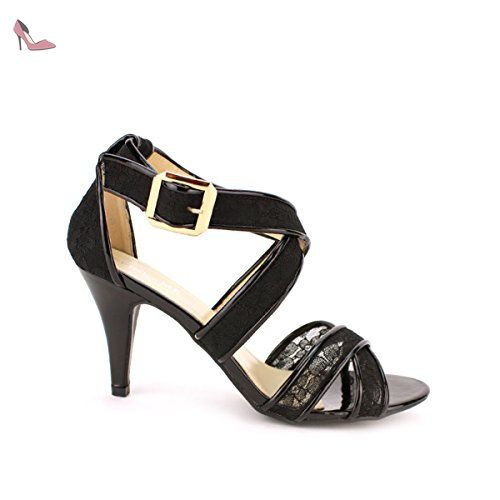 Cendriyon, Escarpin Bi matière VIVINA Mode Chaussures Femme Taille 41 - Chaussures cendriyon (*Partner-Link)