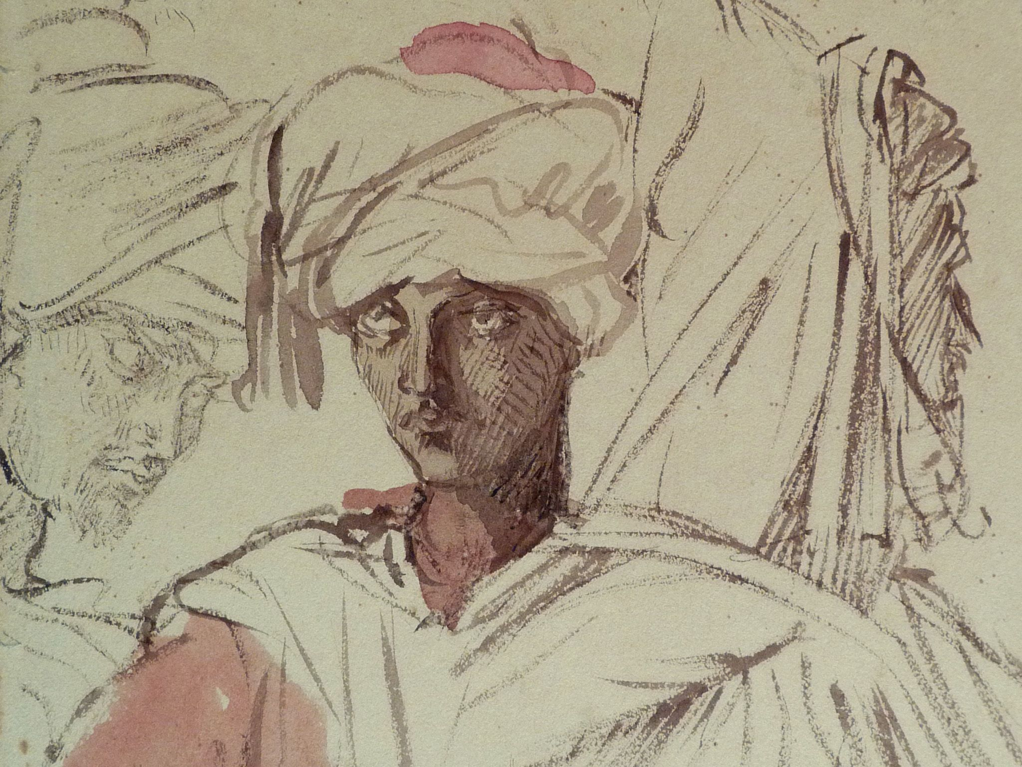 CHASSERIAU Théodore,1846 - Arabes - drawing - Détail 01