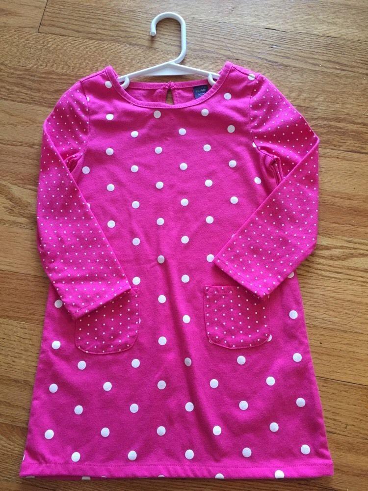 Pink Polka Dot Baby Gap Winter Dress Girls 3 Years 3T Toddler | eBay