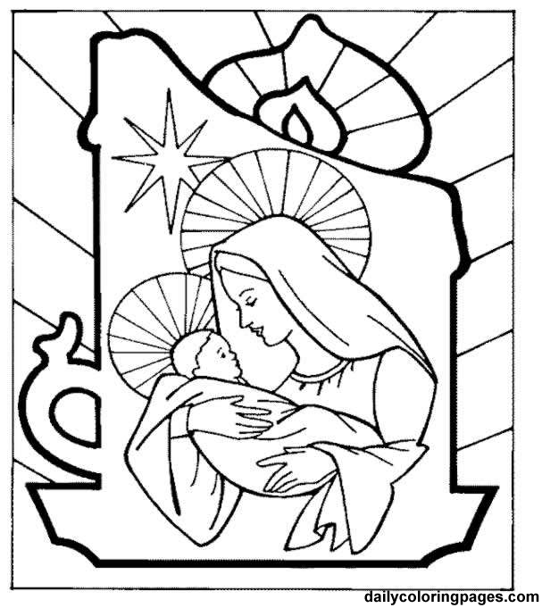 baby jesus - Mary Baby Jesus Coloring Page