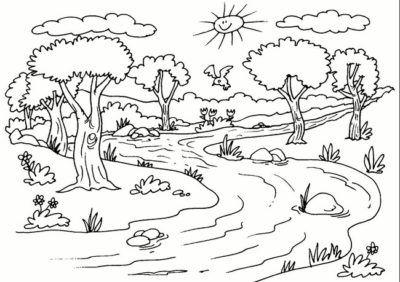 Paisajes Naturales Para Dibujar A Color Paisajes Naturales Dibujo Paisaje Para Colorear Dibujos Para Colorear Paisajes
