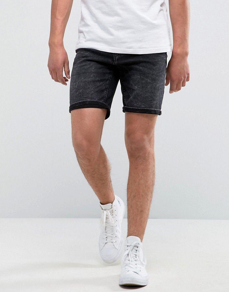 Pull Bear Denim Shorts In Washed Black Black Black Shorts Men Mens Denim Shorts Latest Fashion Clothes [ 1110 x 870 Pixel ]
