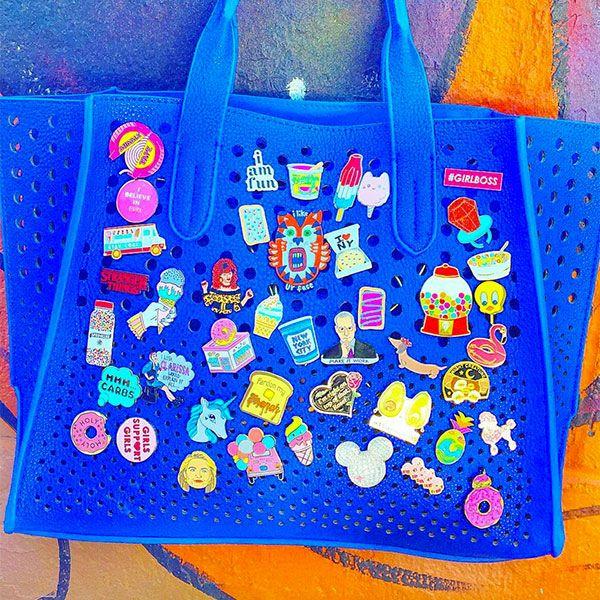 Cute Ways to Display Your Enamel Pins | Enamel pins, Bag