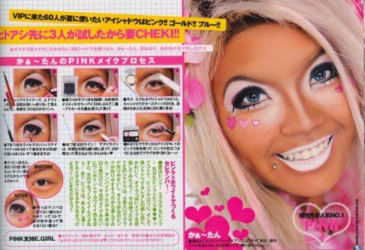 Top Five Freaky Fashion Trends From Japan Gyaru Ganguro Girl Japanese Makeup