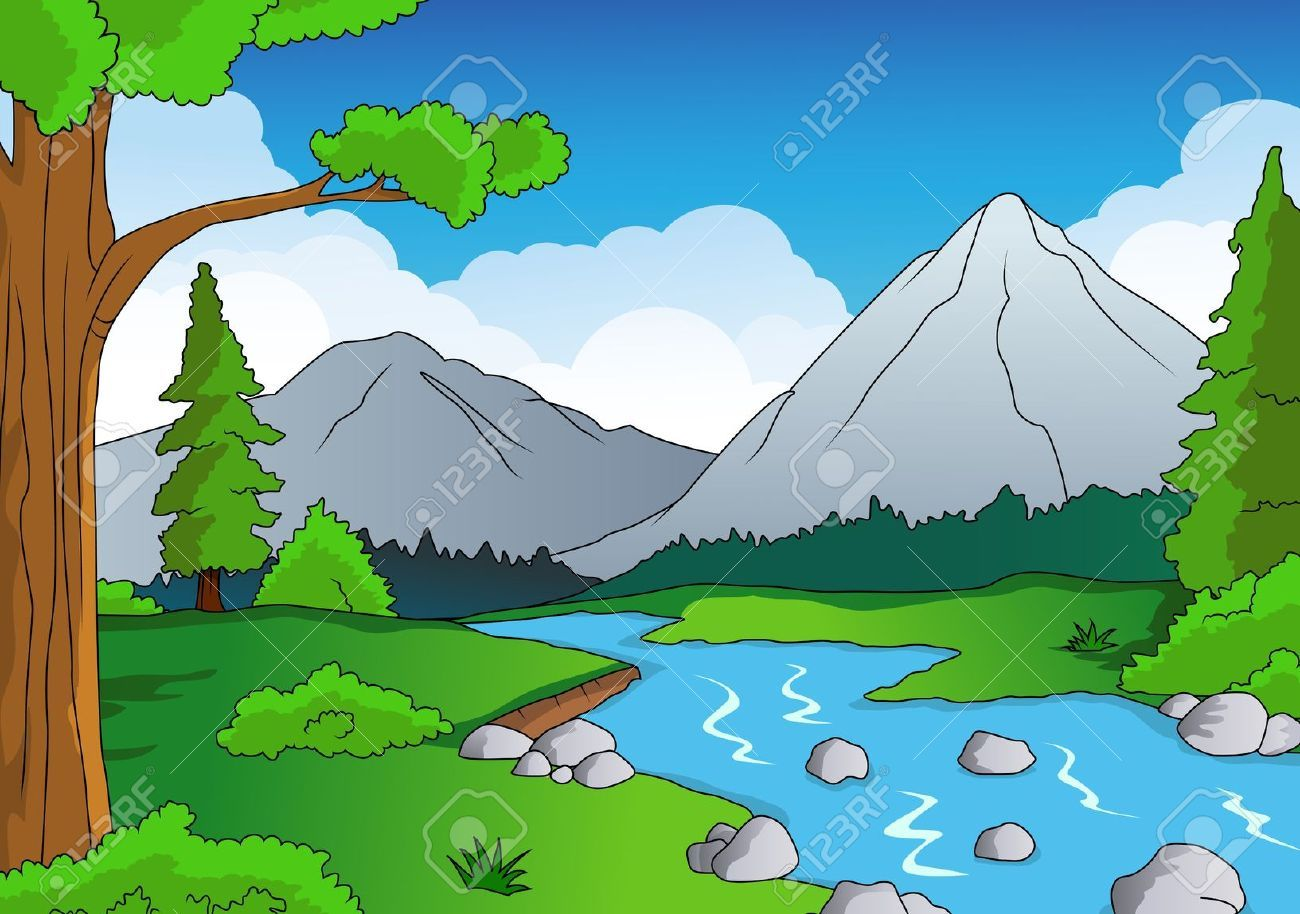 15234357 nature forest background stock vector forest for Fish river tree farm