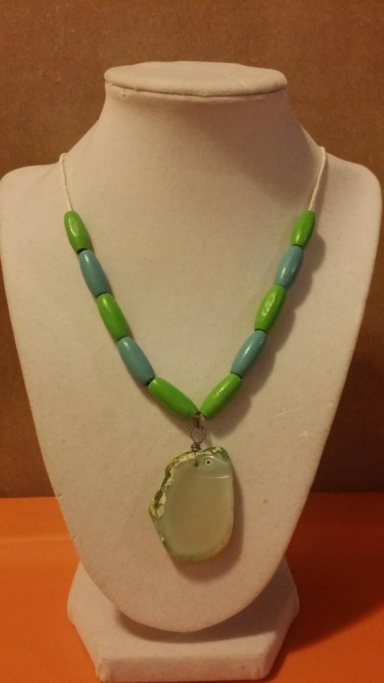 For Sale Womens natural stone necklace no holds pu in
