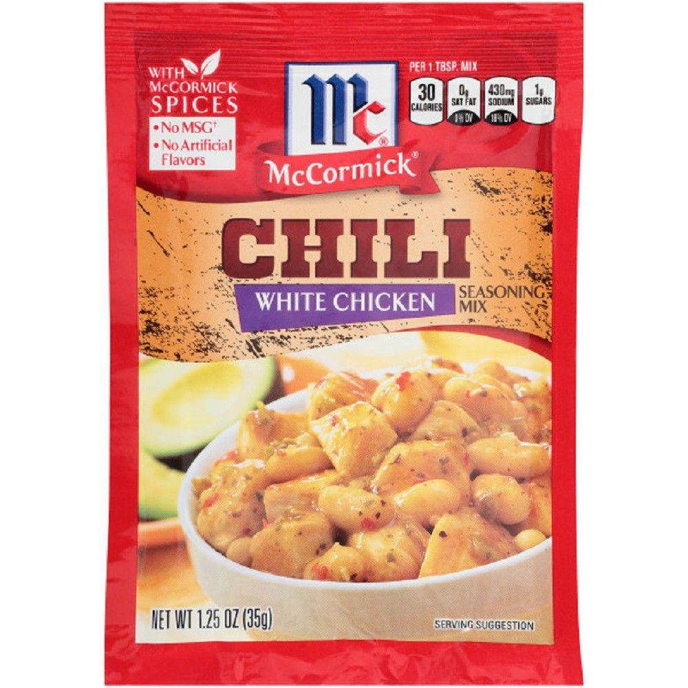 Mccormick White Chicken Chili Seasoning Mix 1 25oz Chili Seasoning Mccormick White Chicken Chili Chicken Chili