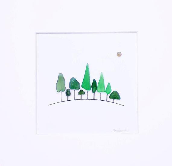 Meer Glasbäume, Meer Glaswald, in den Wald, National Trust Wald, Seaglass Baum, grüner Wald, Meer Glaswälder, grüne Seeglas Bäume #kieselsteinebilder
