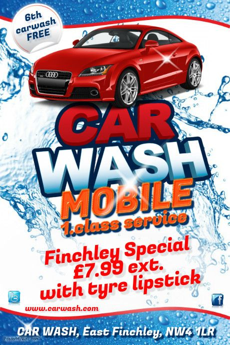 Car Wash Flyer Template Flyer design templates, Car wash and - car ad template