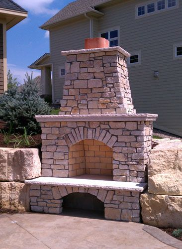 Outdoor Fireplaces Twin City Fireplace And Stone Company