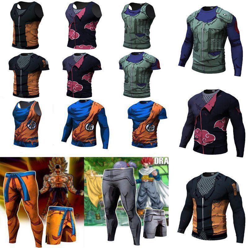 Men Women Dragon Ball Z Vegeta Pants Son Goku Tank Top Sport Gym Workout T Shirt Workout Tshirts Sport Gym Gym Workouts