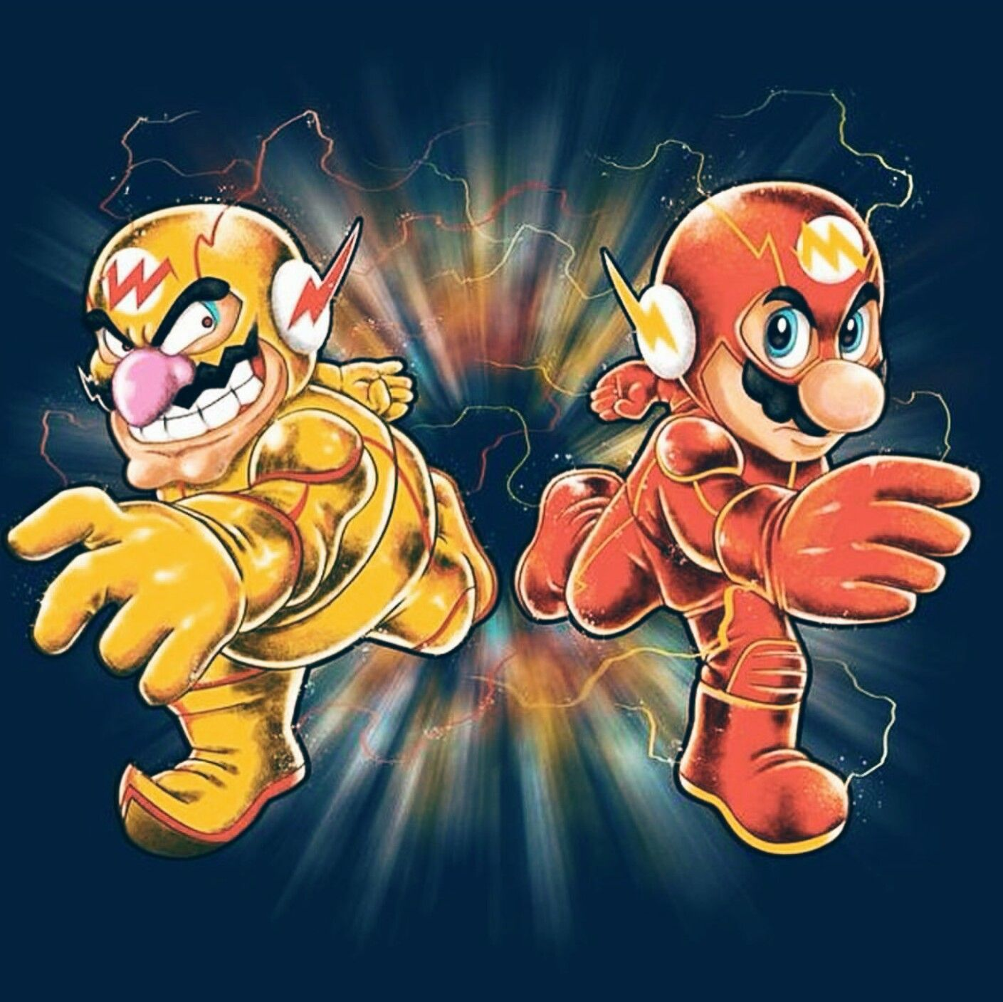 Flash vs. Reverse Flash in the style of Super Mario | Comics ...