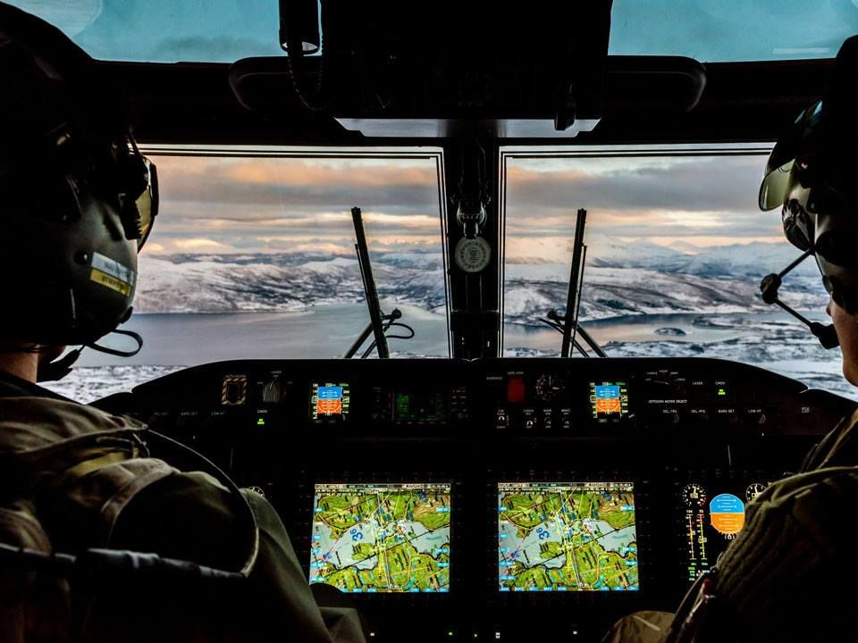 Cockpit View From Wildcat Helicopter From 847 Naval Air Squadron
