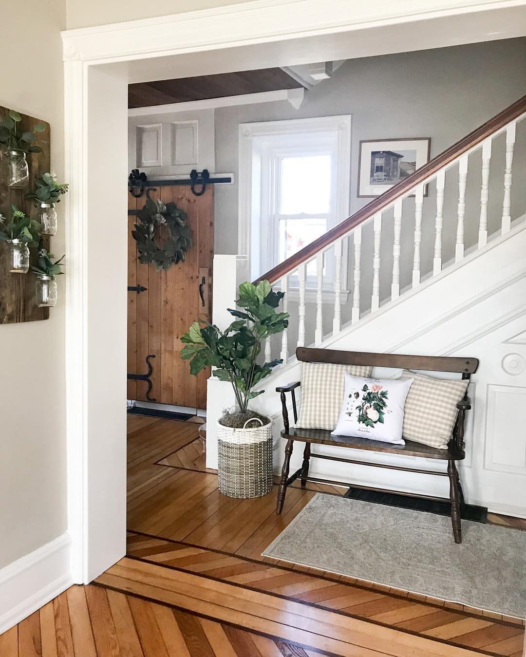 Pin By Jessica Weimer On Design Victorian Farmhouse Farmhouse Entryway Farm House Living Room