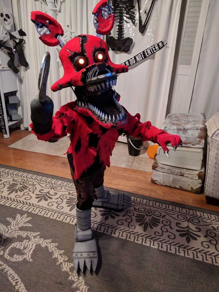 Nightmare Foxy Costume Mask And Hook By Bschook5 Screenshots