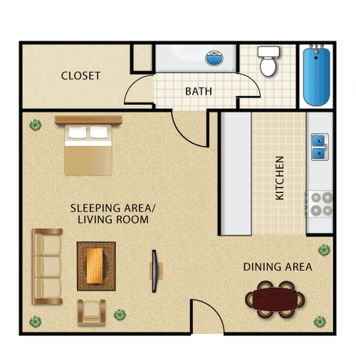 Efficiency Apartment Definition