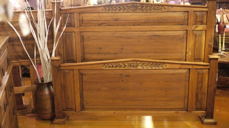 Wreath Worm Wood Bed by The Rustic Gallery of San Antonio ...