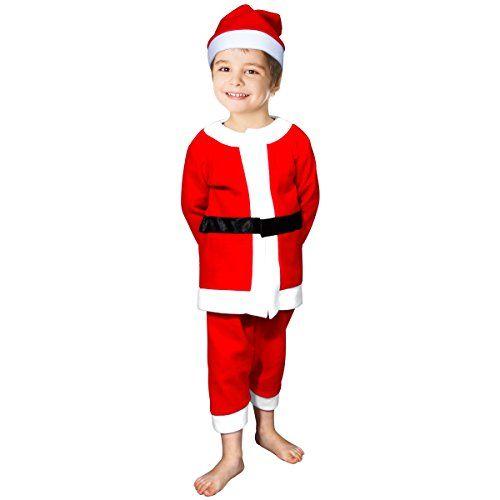 fedio Child Boys 3Pcs Santa Suit Costume with Claus Hat for Boys Ages 36  sc 1 st  Pinterest & fedio Child Boys 3Pcs Santa Suit Costume with Claus Hat for Boys ...