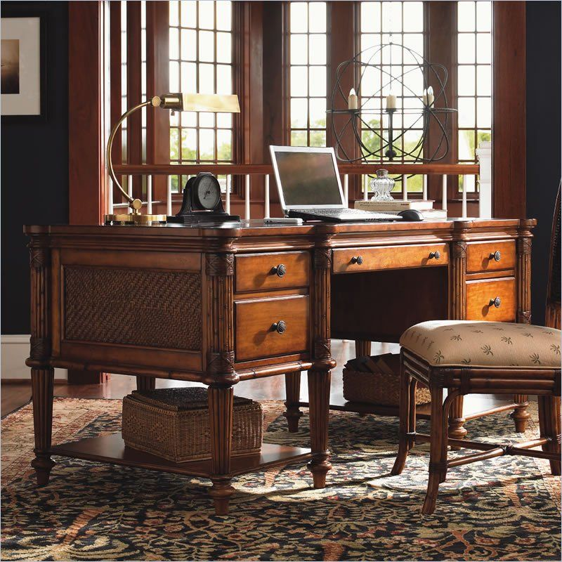 Tommy Bahama Home Island Estate Fraser Wood Computer Desk In Plantation 01 0531