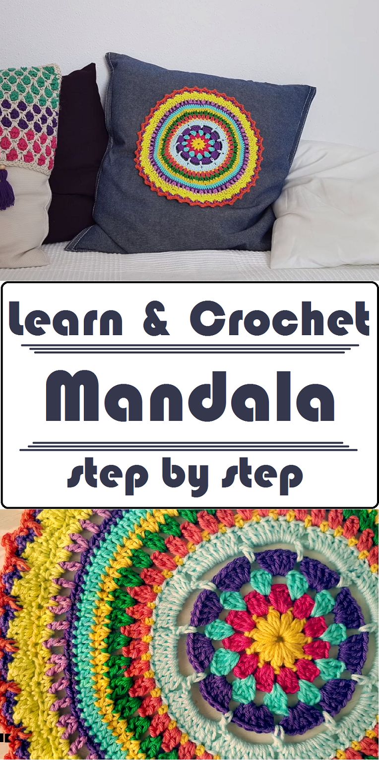 How to Crochet Beautiful Mandala | Crafting Time | Pinterest | Bordado