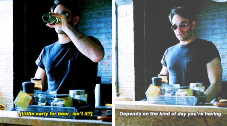 """""""Depends on the kind of day you're having"""" - Matt Murdock #Daredevil"""