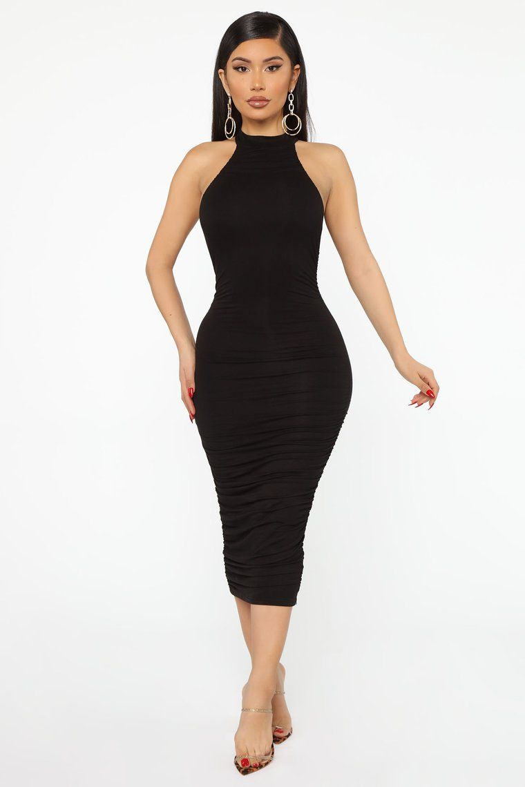 Nova Star Midi Dress Black in 2020 Fashion nova dress