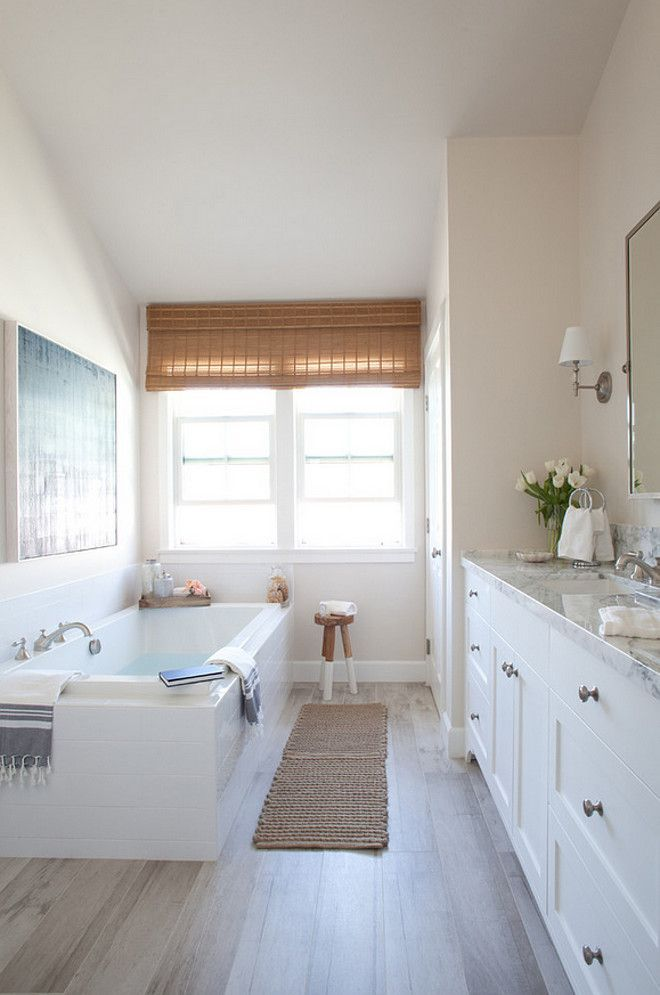 Modern Farmhouse Bathroom neutral modern farmhouse kitchen and bathroom - the bathroom floor