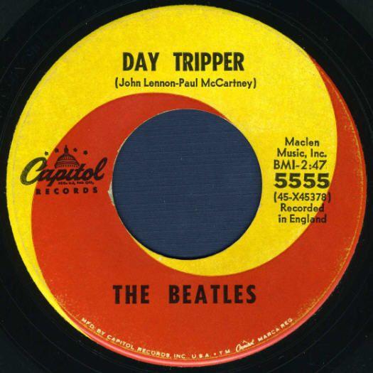 Beatles 45 Labels Capitol 5555 Label Variations Beatles