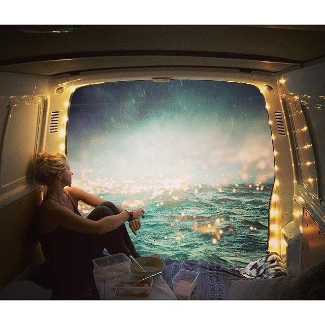 I bought a new (old) van so that I can easily transport my larger paintings around... But I'm thinking that the van and I might have some adventures too  Repost from @sdureau #adventure #oceanlove #vanlife #art #inspiration