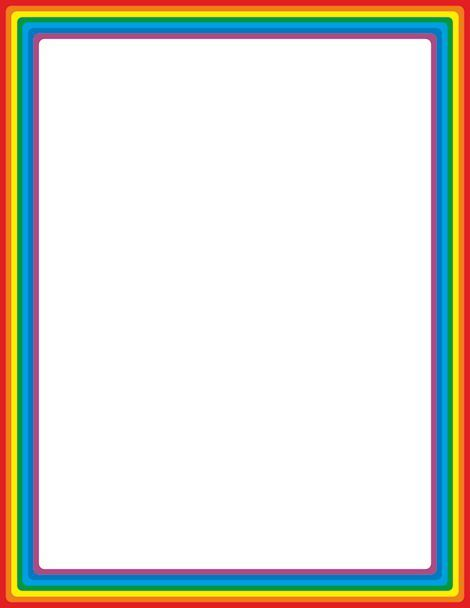 Rainbow page border Free downloads at   pagebordersorg - rainbow page border