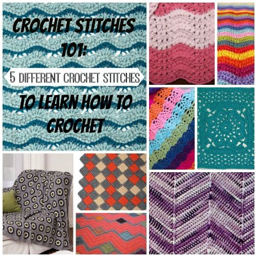 10 Different Crochet Stitches For Blankets Knitting Crochet