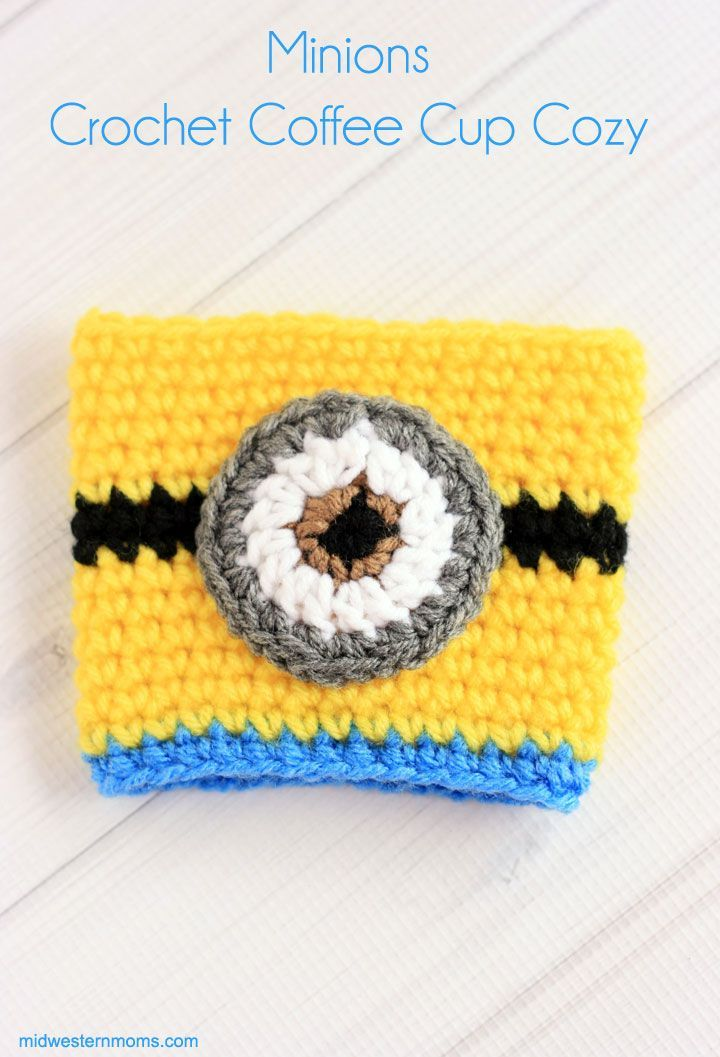 Crochet Minions Coffee Cup Cozy Pattern Cup Cozy Projects
