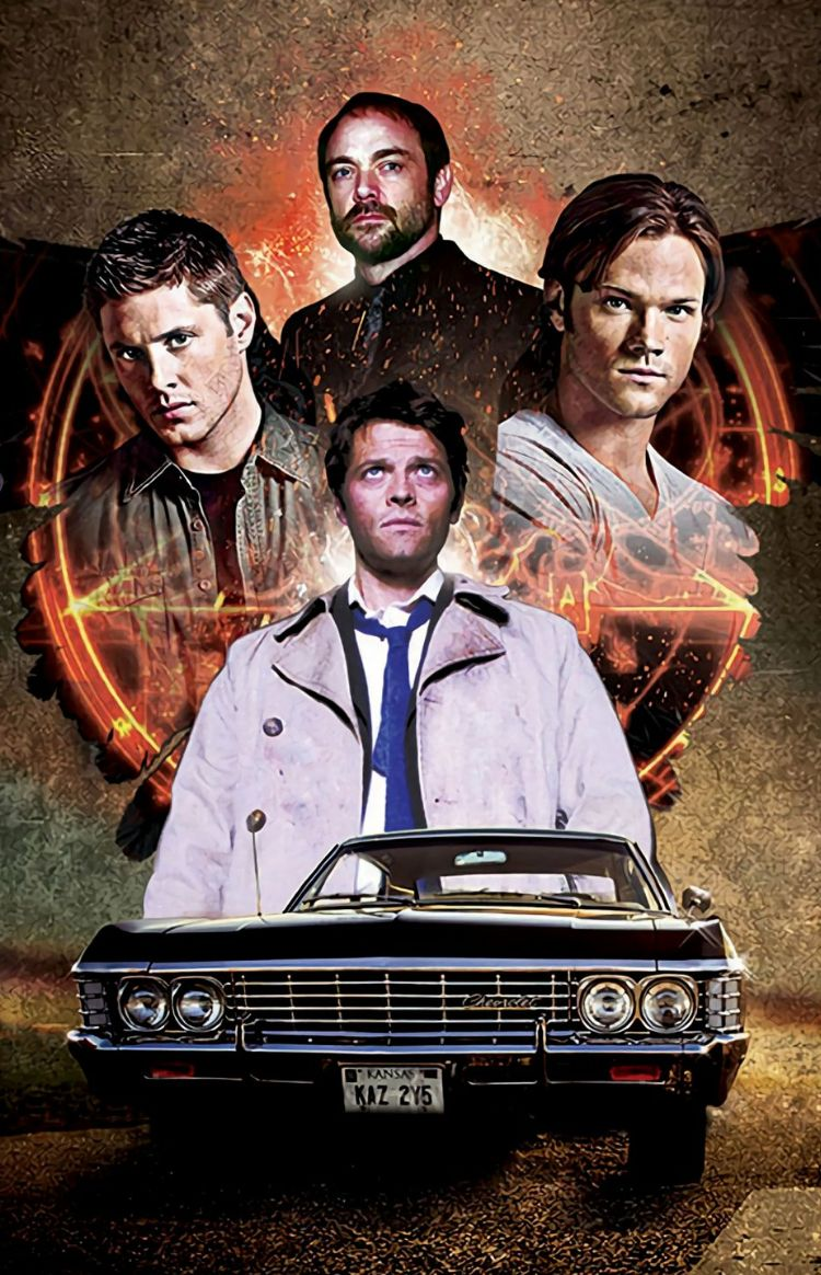 J2 With M2 Dean Sam Winchester Castiel Crowley Jensen