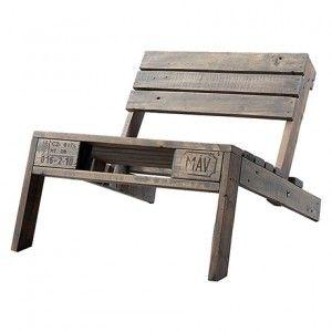 Paletten stuhl grau selber bauen palette europalette und recycelte paletten - Paletten stuhl ...