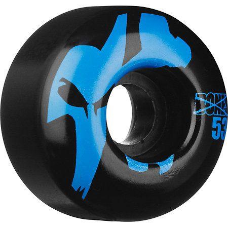 Zumiez - Bones Strobe black and blue 53mm skateboard wheels