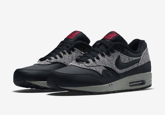 Nike Air Max 90 Black Grey Red Sneaker Bar Detroit