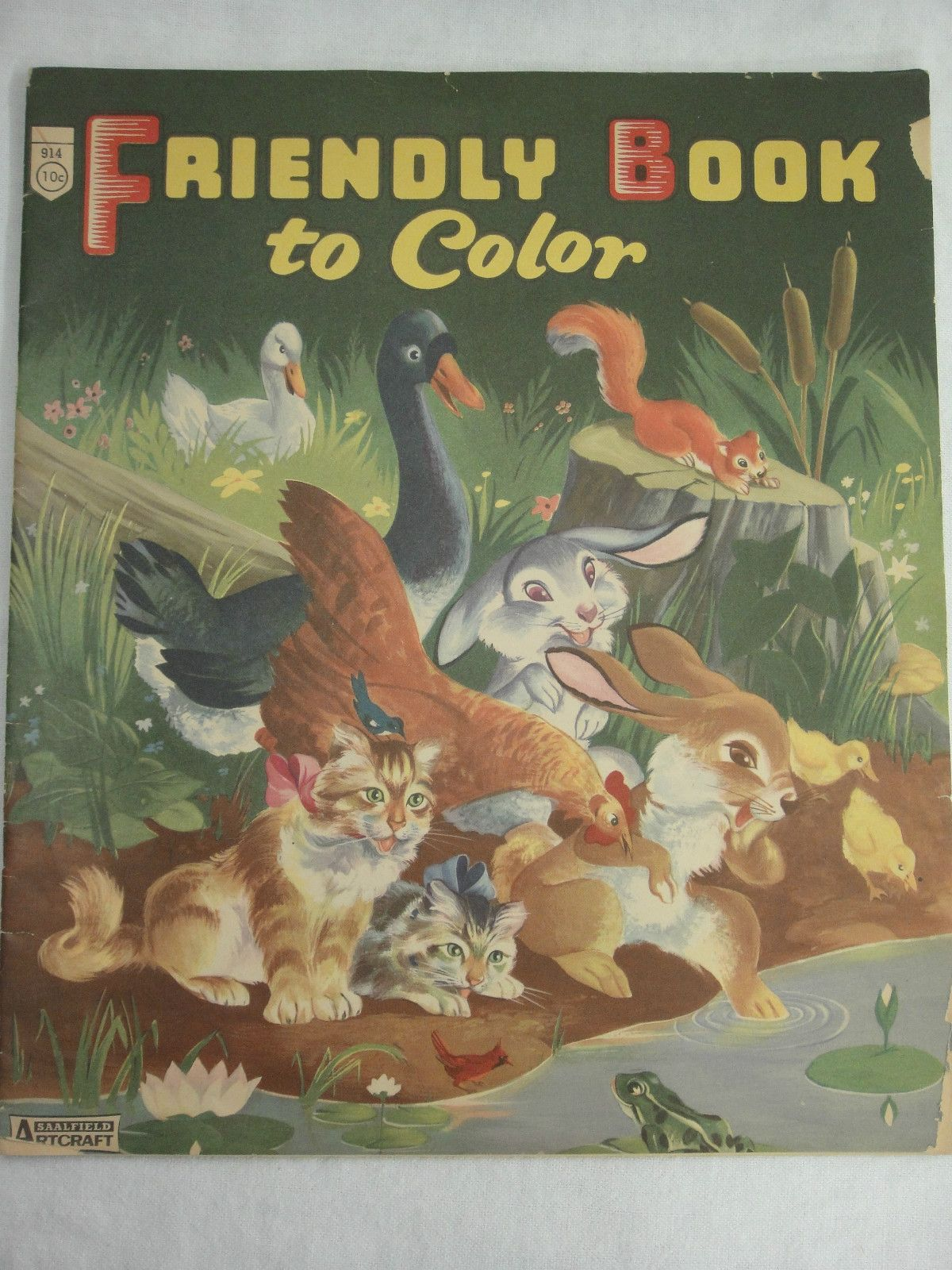 Friendly Book To Color Coloring Saalfield
