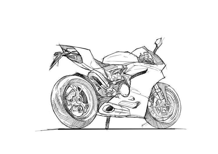 Gaboarevalo Adli Kullanicinin Motorcycles Panosundaki Pin Cizimler Cizim Motorsiklet