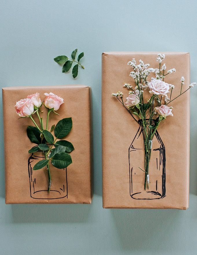 Try this Simple Floral Gift Wrapping!