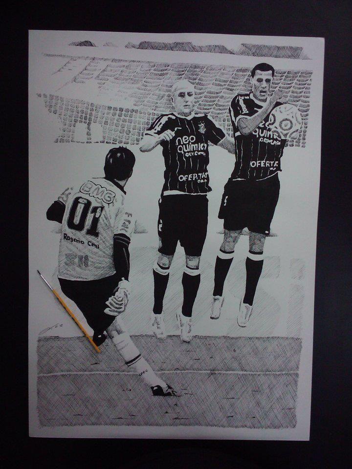 Desenho encomendado, mas Vai Corinthians.