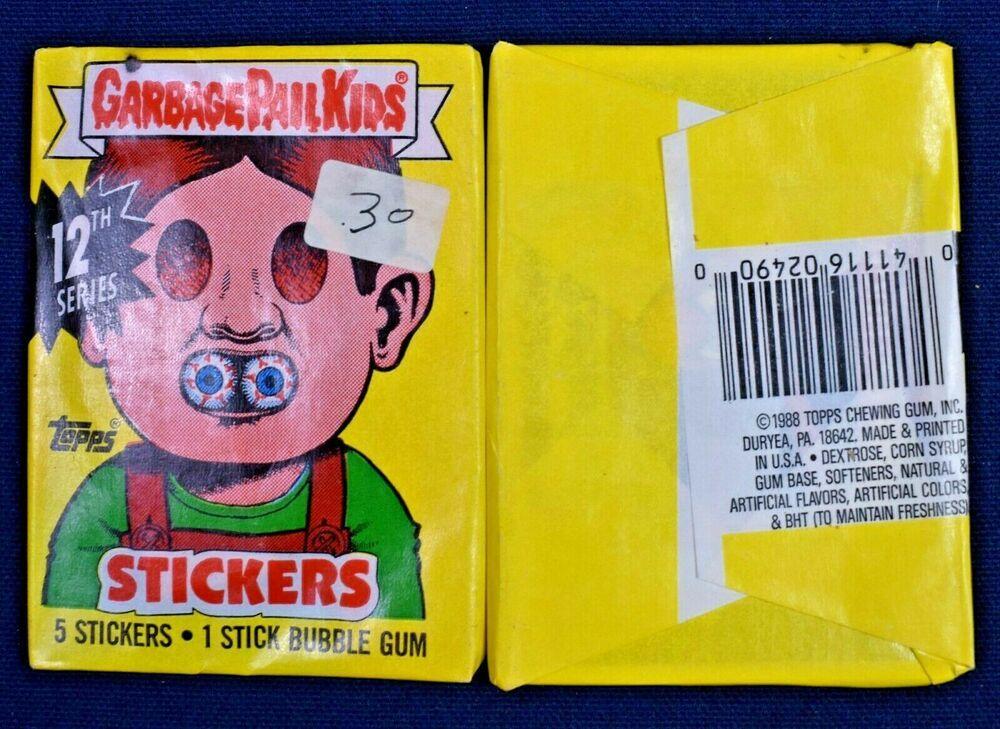 1988 Garbage Pail Kids Stickers 12th Series 20 Pack Lot Nos Ebay In 2020 Kids Stickers Garbage Pail Kids Cards Garbage Pail Kids